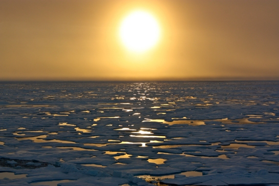 Picture taken aboard the USCGC Healy in the Chukchi Sea during the final days of ocean data collection for the 2011 ICESCAPE mission.