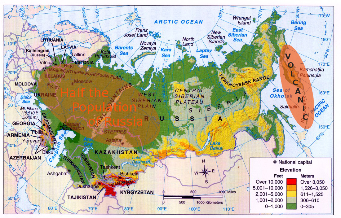 Russia Suffer The Little Children - Russia map and surrounding countries
