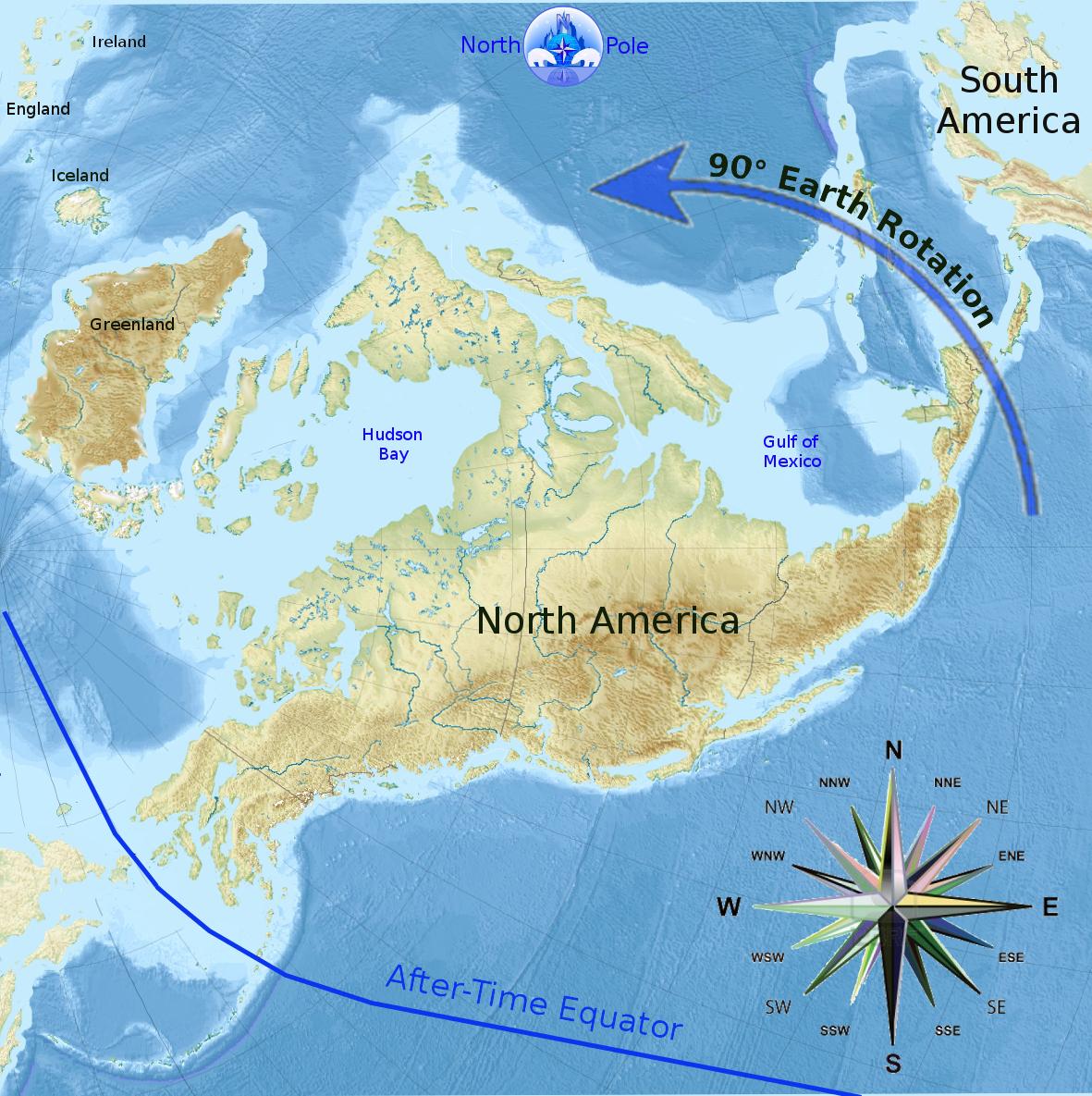 Earth Pole Shift Map