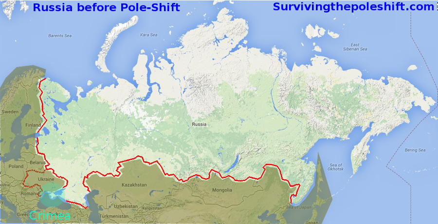 Russia - Us navy map after pole shift