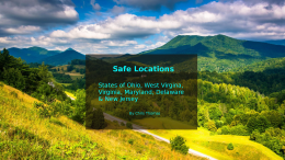 Video: Safe Locations for the USA States of Ohio, West Virginia, Virginia, Maryland, Delaware and New Jersey.