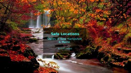Video: safe locations for the U.S.A. states of New Hampshire and Maine
